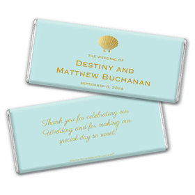 Personalized Bonnie Marcus Chocolate Bar & Wrapper - Wedding Siren's Shell