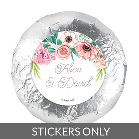 "Personalized 1.25"" Stickers - Wedding Reception Blossom Bliss (48 Stickers)"