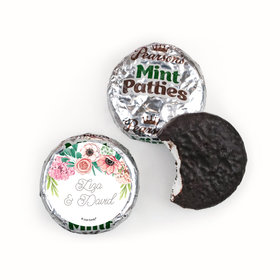 Personalized Pearson's Mint Patties - Wedding Reception Blossom Bliss
