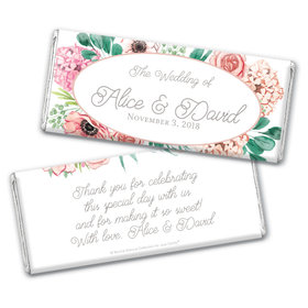 Personalized Bonnie Marcus Chocolate Bar & Wrapper - Bridal Shower Blossom Bliss