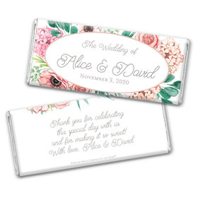 Personalized Bonnie Marcus Chocolate Bar Wrappers Only - Bridal Shower Blossom Bliss