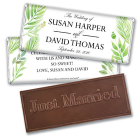 Personalized Bonnie Marcus Embossed Chocolate Bar & Wrapper - Wedding Wild Plants