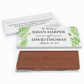Deluxe Personalized Wild Plants Wedding Chocolate Bar in Gift Box
