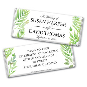 Personalized Bonnie Marcus Chocolate Bar & Wrapper - Wedding Wild Plants