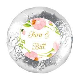 "Personalized 1.25"" Stickers - Wedding Reception Botanical Wreath (48 Stickers)"