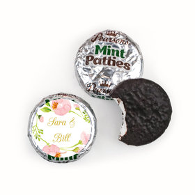 Personalized Pearson's Mint Patties - Wedding Reception Botanical Wreath