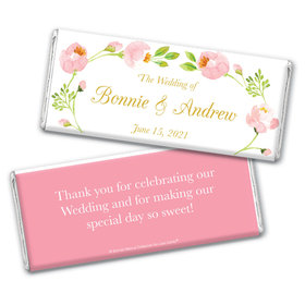 Personalized Bonnie Marcus Chocolate Bar & Wrapper - Wedding Botanical Wreath