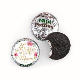 Personalized Pearson's Mint Patties - Wedding Reception Mr. & Mrs.