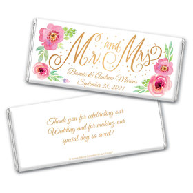 Personalized Bonnie Marcus Chocolate Bar Wrappers - Wedding Mr. & Mrs.