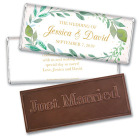 Personalized Bonnie Marcus Embossed Chocolate Bar & Wrapper - Wedding Forever Foliage