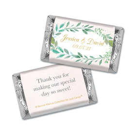 Personalized Hershey's Miniatures - Bonnie Marcus Wedding Forever Foliage