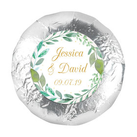 """Personalized 1.25"""" Stickers - Wedding Reception Forever Foliage (48 Stickers)"""