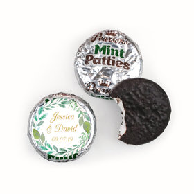 Personalized Pearson's Mint Patties - Wedding Reception Forever Foliage