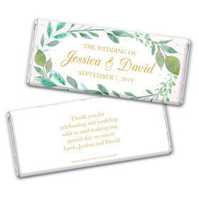 Personalized Bonnie Marcus Chocolate Bar & Wrapper - Wedding Forever Foliage