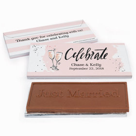 Deluxe Personalized Bubbly Wedding Chocolate Bar in Gift Box