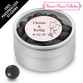 Bonnie Marcus Collection Personalized Small Round Tin The Bubbly Custom Wedding Favor (25 Pack)