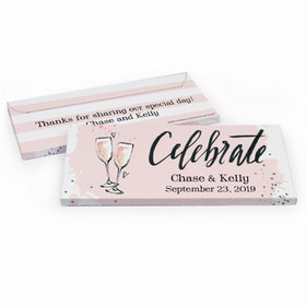 Deluxe Personalized Bubbly Wedding Hershey's Chocolate Bar in Gift Box