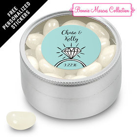 Bonnie Marcus Collection Personalized Small Round Tin Last Fling Custom Wedding Favor (25 Pack)