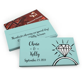 Deluxe Personalized Last Fling Wedding Chocolate Parve Bar in Gift Box (3.5oz Bar)
