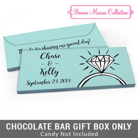 Deluxe Personalized Last Fling Wedding Candy Bar Favor Box
