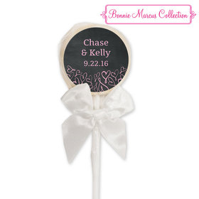 Bonnie Marcus Collection Personalized White Lollipop Sweetheart Swirl Wedding Favor (24 Pack)