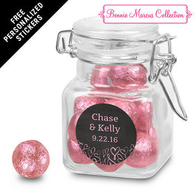 Bonnie Marcus Collection Personalized Latch Jar Sweetheart Swirl Wedding Favor (12 Pack)