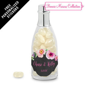 Bonnie Marcus Collection Personalized Champagne Bottle Floral Embrace Custom Wedding Favor (25 Pack)