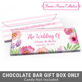 Deluxe Personalized Floral Embrace Wedding Candy Bar Cover
