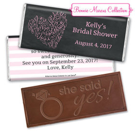 Whispering Heart Bridal Shower Favors Personalized Embossed Bar Assembled