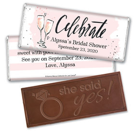 The Bubbly Custom Bridal Shower Personalized Embossed Bar Assembled