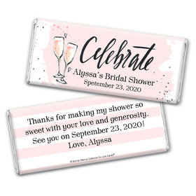 The Bubbly Custom Bridal Shower Personalized Candy Bar - Wrapper Only