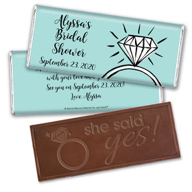 Last Fling Bridal Shower Favors Personalized Embossed Bar Assembled