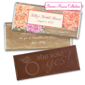 Blooming Joy Bridal Shower Favor Personalized Embossed Bar Assembled