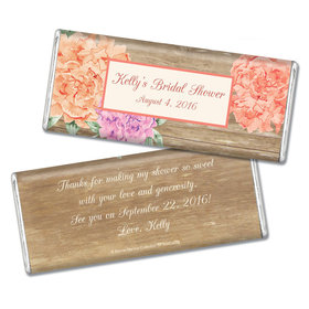 Blooming Joy Bridal Shower Favor Personalized Hershey's Bar Assembled
