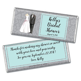 Bonnie Marcus Collection Personalized Chocolate Bar Chocolate and Wrapper Forever Together Bridal Shower Favors