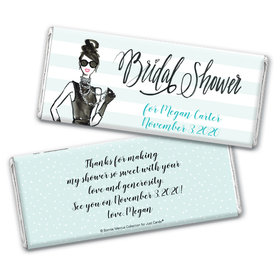 Showered in VogueBridal Shower Favors Personalized Candy Bar - Wrapper Only