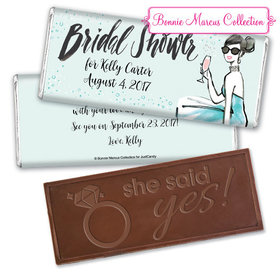Sunny Soiree Bridal Shower Favors Personalized Embossed Bar Assembled