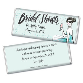 Sunny Soiree Bridal Shower Favors Personalized Hershey's Bar Assembled
