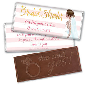 Bridal March Bridal Shower Favors Personalized Embossed Bar Assembled