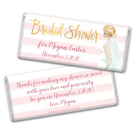 Bridal March Bridal Shower Favors Personalized Candy Bar - Wrapper Only