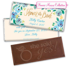 Here's Something Blue Bridal Shower Favors Personalized Embossed Bar Assembled
