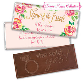 In the Pink Bridal Shower Favors by Bonnie Marcus Personalized Embossed Bar Assembled