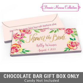 Deluxe Personalized In the Pink Bridal Shower Candy Bar Favor Box