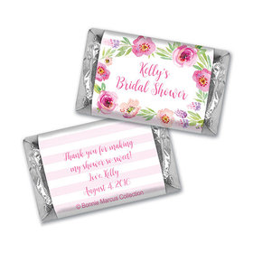 Floral Embrace Bridal Shower Personalized Miniature Wrappers