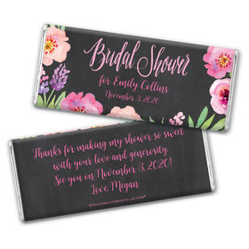 Floral Embrace Bridal Shower Favors Personalized Candy Bar - Wrapper Only