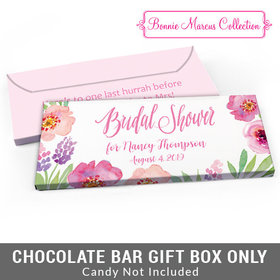 Deluxe Personalized Floral Embrace Bridal Shower Candy Bar Favor Box