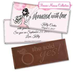 Blithe Spirit Bridal Shower Favors Personalized Embossed Bar Assembled