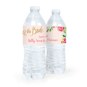 Personalized Bridal Shower In the Pink Water Bottle Sticker Labels (5 Labels)