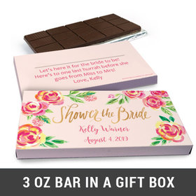Deluxe Personalized In the Pink Chocolate Bar in Gift Box (3oz Bar)