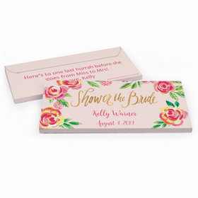 Deluxe Personalized In the Pink Bridal Shower Chocolate Bar in Gift Box